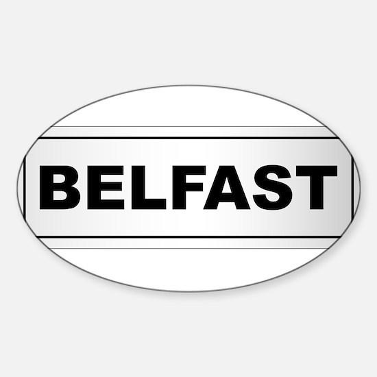 Belfast City Nameplate Decal