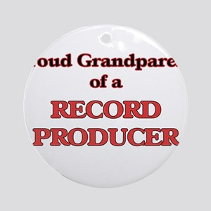 Proud Grandparent of a Record Produ Round Ornament