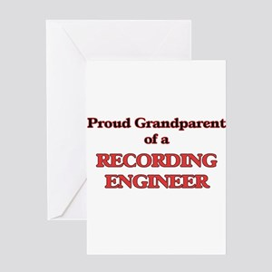 Proud Grandparent of a Recording En Greeting Cards