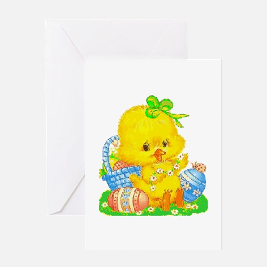 Vintage Cute Easter Duckling And Greeting Cards