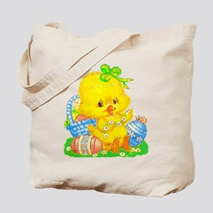 Vintage Cute Easter Duckling And Egg B Tote Bag