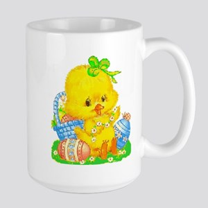 Vintage Cute Easter Duckling And Easter Egg Mugs