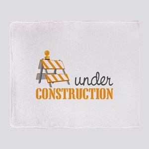 Under Construction Throw Blanket