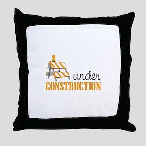 Under Construction Throw Pillow