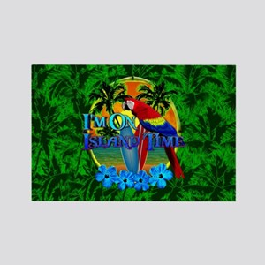 Island Time Surfing Palm Trees Magnets