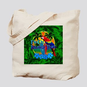 Island Time Surfing Palm Trees Tote Bag