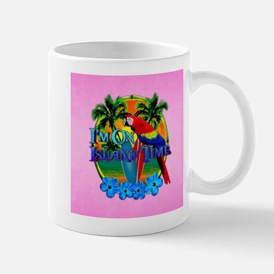 Pink Island Time Sunset Mugs