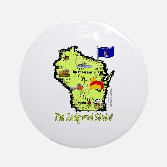WI-Badgered! Ornament (Round)