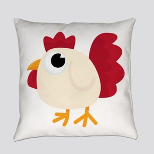 Funny White Chicken Everyday Pillow