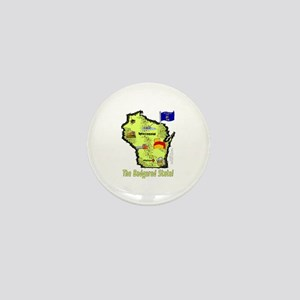 WI-Badgered! Mini Button