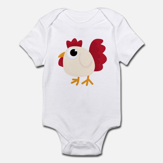Funny White Chicken Body Suit