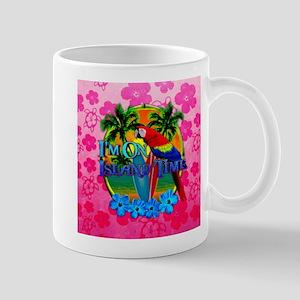 Pink Hibiscus Island Time Sunset Mugs