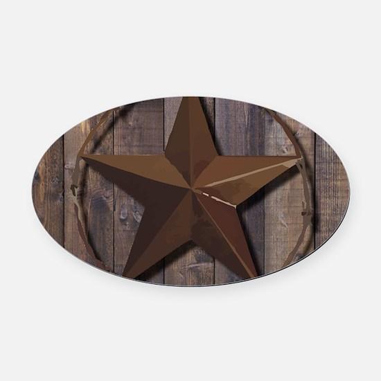 Unique Texas star Oval Car Magnet