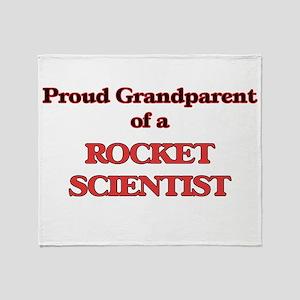 Proud Grandparent of a Rocket Scient Throw Blanket