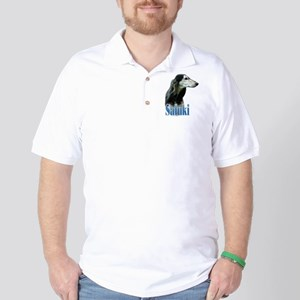 Saluki(tri) Name Golf Shirt