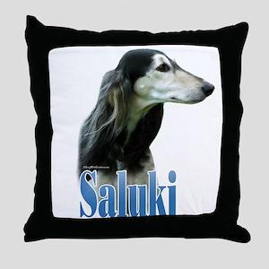 Saluki(tri) Name Throw Pillow