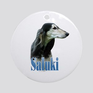 Saluki(tri) Name Ornament (Round)