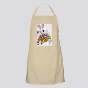 Easter Bunny With Basket Of Eggs Apron