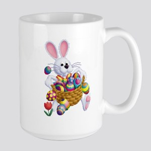 Easter Bunny With Basket Of Eggs Mugs