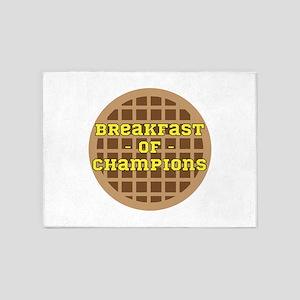 Breakfast of Champions 5'x7'Area Rug