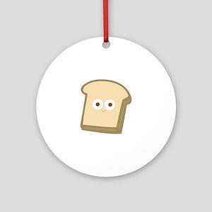Slice Of Bread Round Ornament