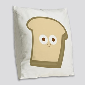 Slice Of Bread Burlap Throw Pillow