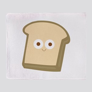 Slice Of Bread Throw Blanket