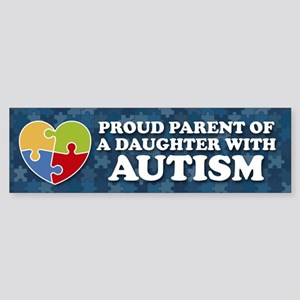 Proud Parent of Daughter with Aut Sticker (Bumper)