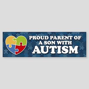 Proud Parent of Son with Autism Bumper Sticker