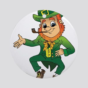 Irish Gnome Round Ornament