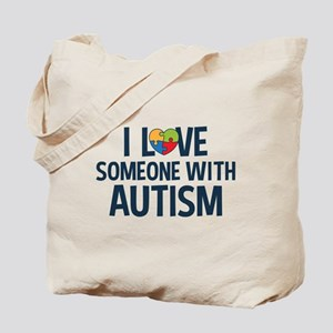 Love Someone with Autism Tote Bag