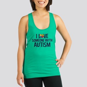 Love Someone with Autism Racerback Tank Top