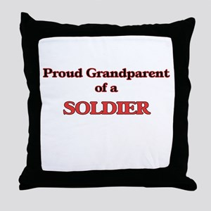 Proud Grandparent of a Soldier Throw Pillow
