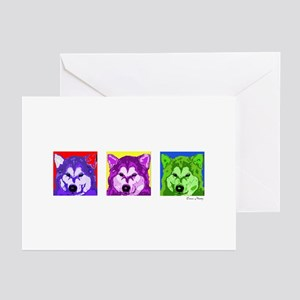 husky13x36 Greeting Cards