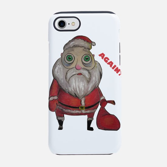 Santa tired iPhone 8/7 Tough Case