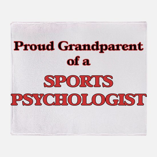 Proud Grandparent of a Sports Psycho Throw Blanket