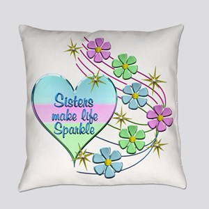 Sisters Make Life Sparkle Everyday Pillow