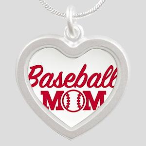 Baseball mom Silver Heart Necklace