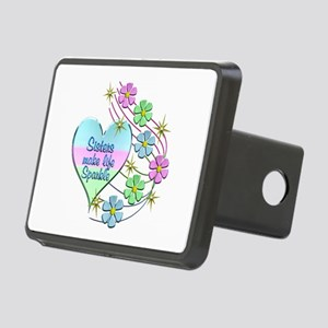 Sisters Make Life Sparkle Rectangular Hitch Cover