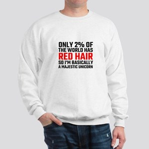 Only 2 Percent Of The World Has Red Hai Sweatshirt