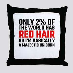 Only 2 Percent Of The World Has Red H Throw Pillow
