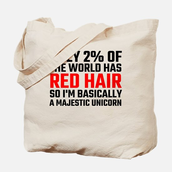 Only 2 Percent Of The World Has Red Hair Tote Bag