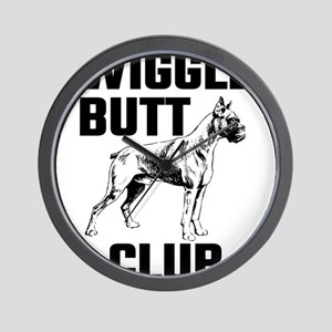 Boxer Wiggle Butt Club Wall Clock