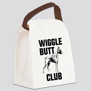 Boxer Wiggle Butt Club Canvas Lunch Bag