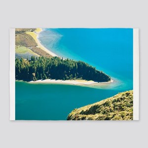 Lake in the Azores 5'x7'Area Rug