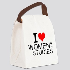 I Love Women's Studies Canvas Lunch Bag