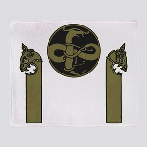 Viking Emblem Throw Blanket