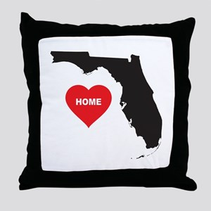 Florida Is Home Throw Pillow