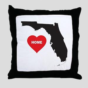 Florida Is Home Throw Pillow