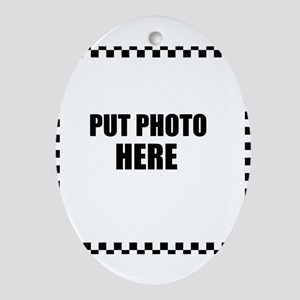 Put Photo Here Oval Ornament